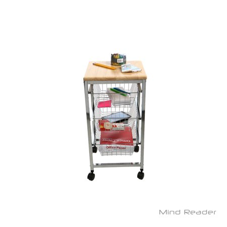 mind reader 3 tier all purpose utility cart with wheels for office kitchen bathroom. Black Bedroom Furniture Sets. Home Design Ideas