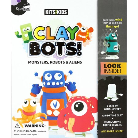 Kits For Kids By Spice Box Clay Bots Monsters Robots And Aliens