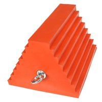 "10"" Urethane Double-Sided Wheel Chock with Eye Bolt"