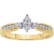 Lovelight 1/4 Carat T.W. Certified Diamond 10kt Yellow Gold Engagement Ring