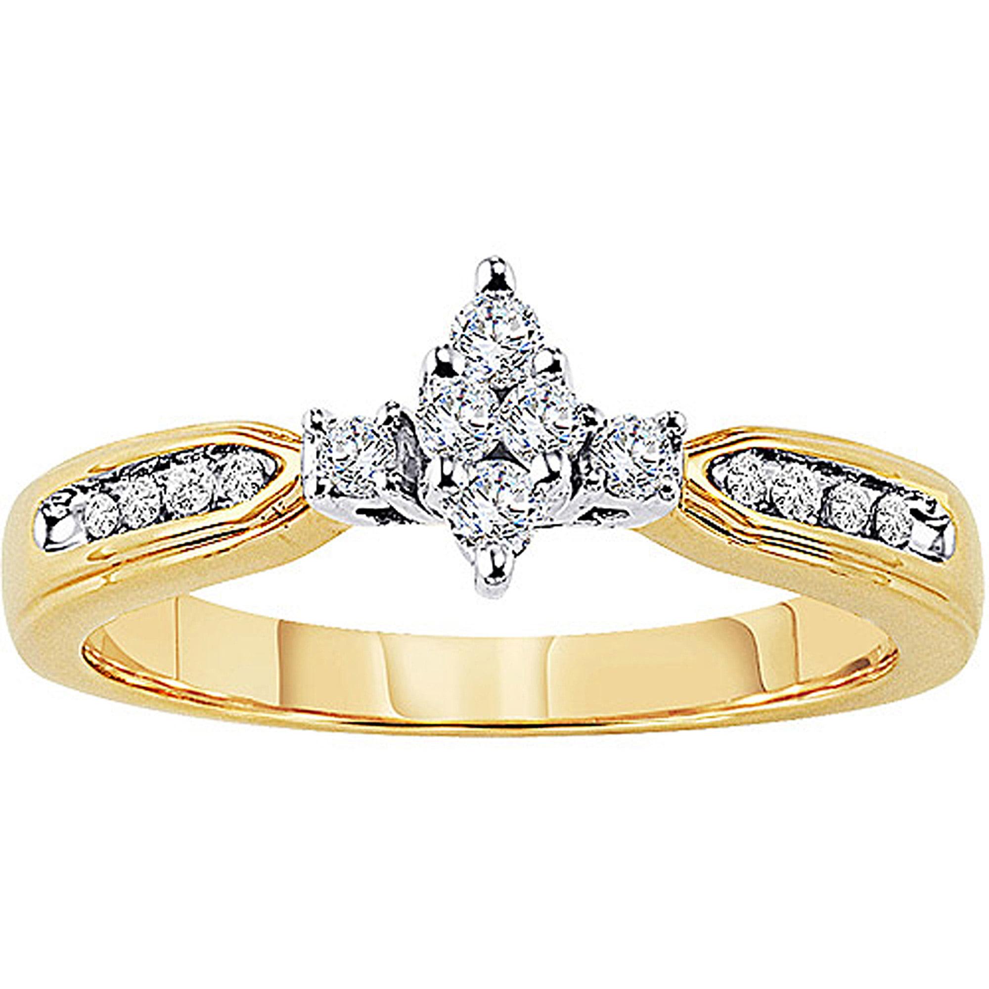 Keepsake Lovelight 1/4 Carat T.W. Diamond 10kt Yellow Gold Engagement Ring
