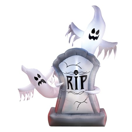 Inflatable, Lighted, Halloween Ghosts and Tombstone Décor - Over 5 Ft Tall