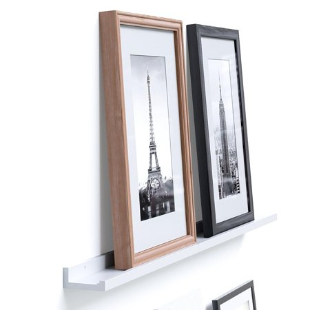 Modern Floating Wall Ledge Shelf for Pictures and Frames 46 Inches ...