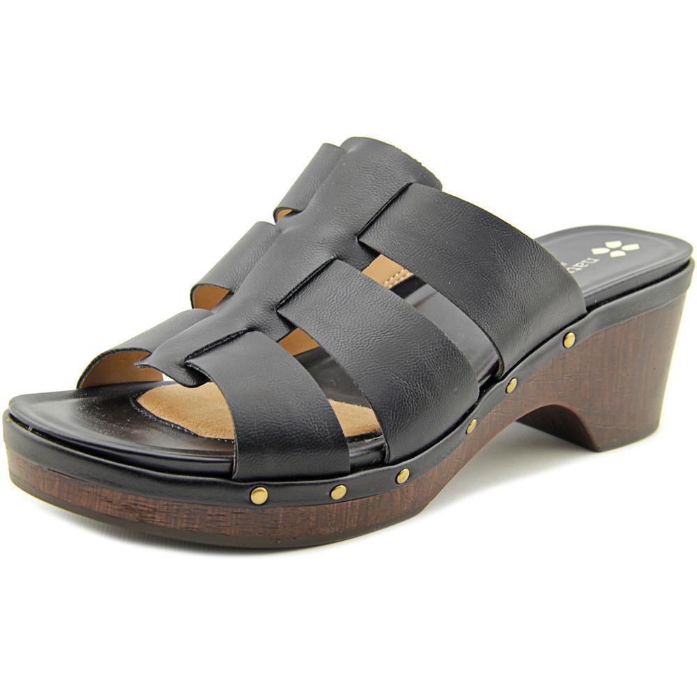 Naturalizer Gramercy Women Open Toe Synthetic Black Platform Sandal by Naturalizer