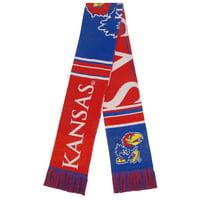 Kansas Jayhawks Color Block Double-Sided Scarf - No Size
