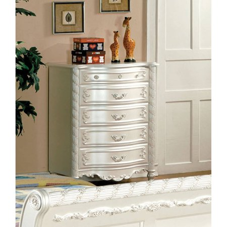 Furniture of America Caity Traditional Youth Bedroom Chest, Pearl - Dollhouse Youth Dresser
