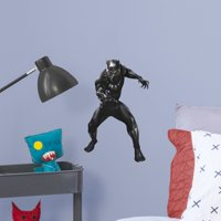 Fathead Avengers: Endgame - Black Panther - Large Officially Licensed Marvel Removable Wall Decal