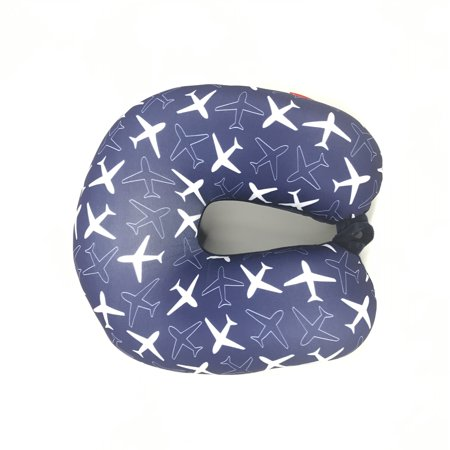 Bookisbunny Ultralight Micro Beads U Shaped Travel Neck Pillow Head Airplane Flower Print Sleep Support Cushion