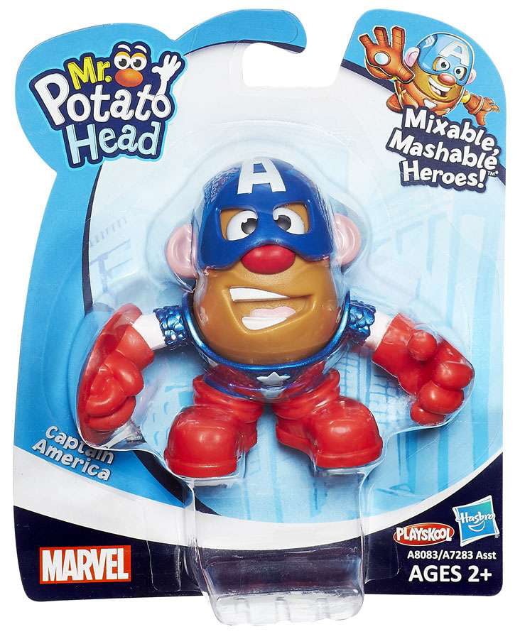 Marvel Playskool Mixable, Mashable Heroes! Captain America Mini Mr. Potato Head by