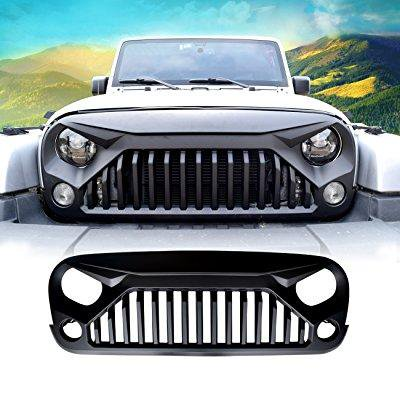 2017 Jeep Wrangler Unlimited Accessories >> Diytunings Front Matte Black Gladiator Vader Grille For Jeep