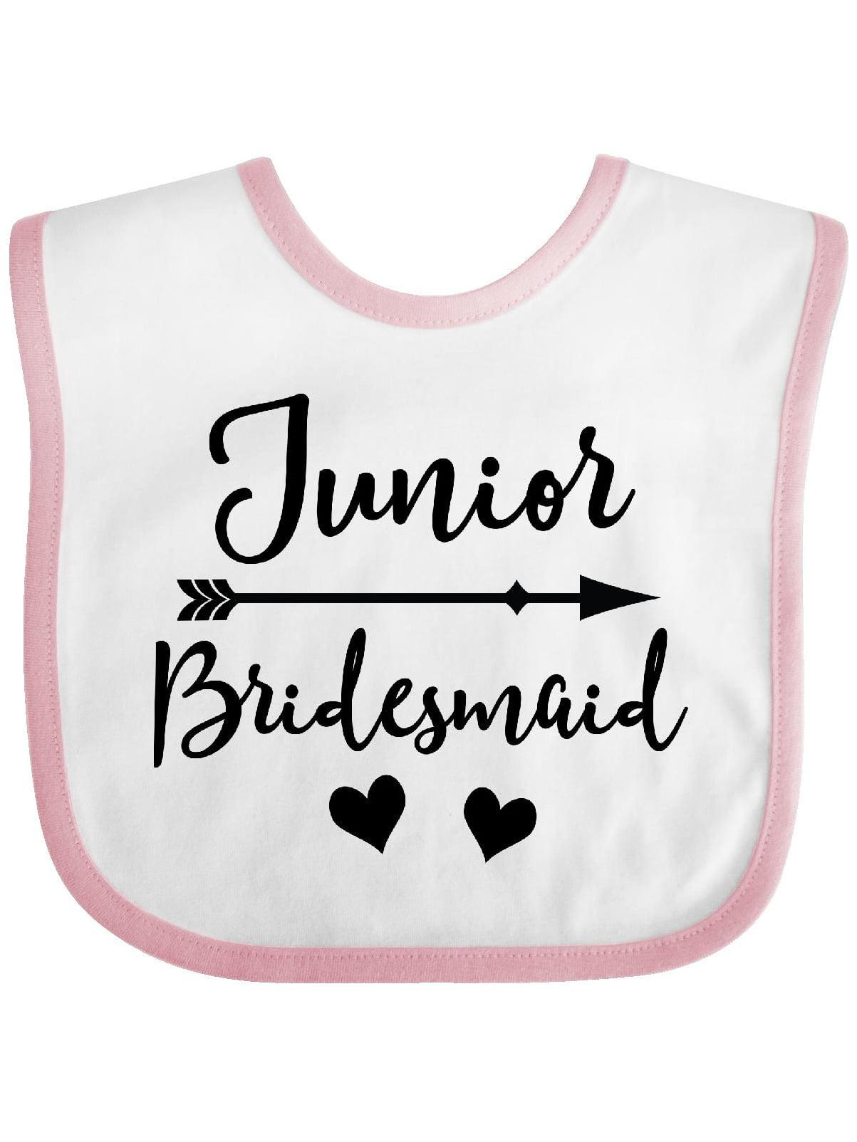 Inktastic Junior Bridesmaid Wedding Bridal Party Gift Baby Bib Cute Present Fun