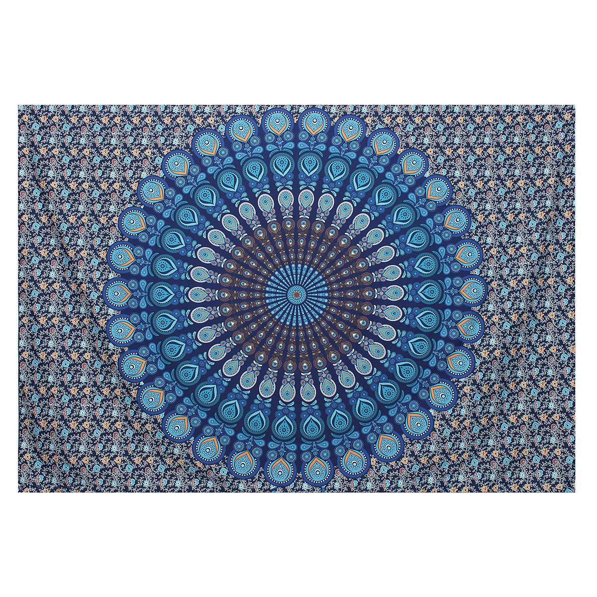 Dorm Indian Ethnic Mandala Wall Hanging Tapestry Throw Bohemian Bedspread Mat by