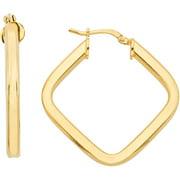 Flat Triangle Hoop Earrings