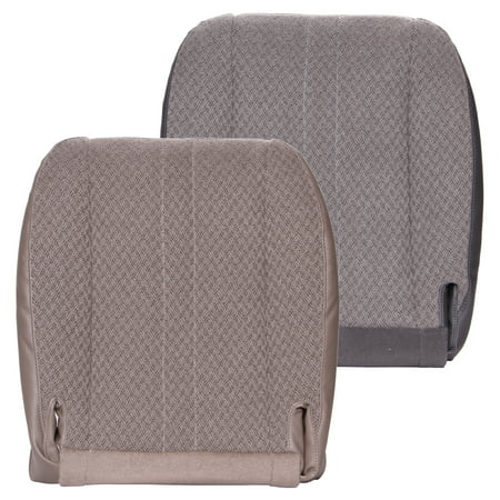 The Seat Shop Chevy Express Van Driver/Passenger Bottom OEM Fit Cloth Seat Cover, Tan
