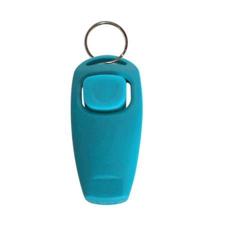 Dog Whistle Sounds - 2 in 1 Pet Dog Training Whistle Clicker With Key Chain Trainings Tools