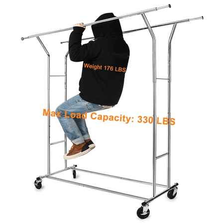 330 Lb Heavy Duty Clothing Garment Rackscommercial Grade