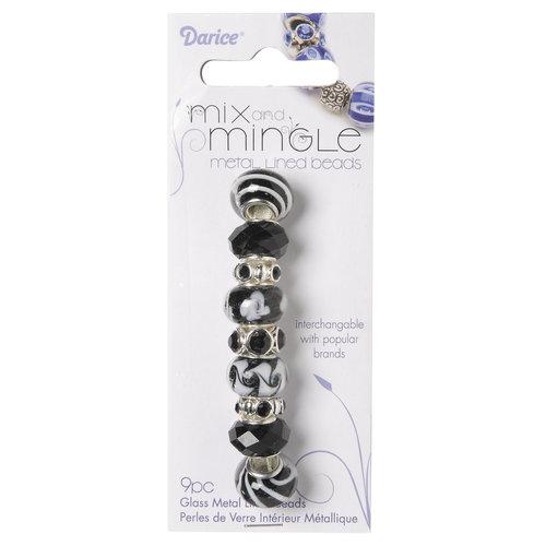 Mix and Mingle Glass Metal Beads, Black