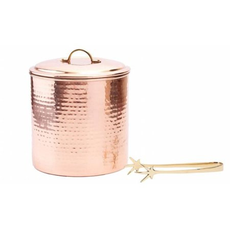 Hammered Copper Ice (Hammered Decor Copper Ice Bucket with Liner & Tongs, 3 Quart)