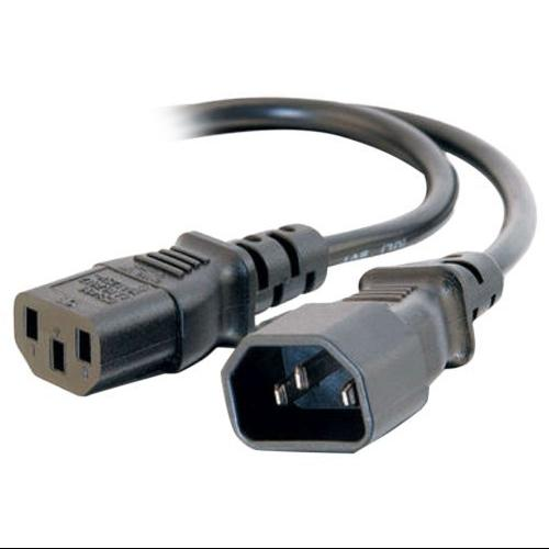 C2G 6ft 16 AWG 250 Volt Computer Power Extension Cord - 6 ft - IEC 60320 C14 - IEC 60320 C13 250 V AC - 13 A - Black - Cables To Go 29967_25