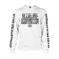 Product Image Harley Davidson Mens Distressed Freedom Fighter Long Sleeve Shirt White