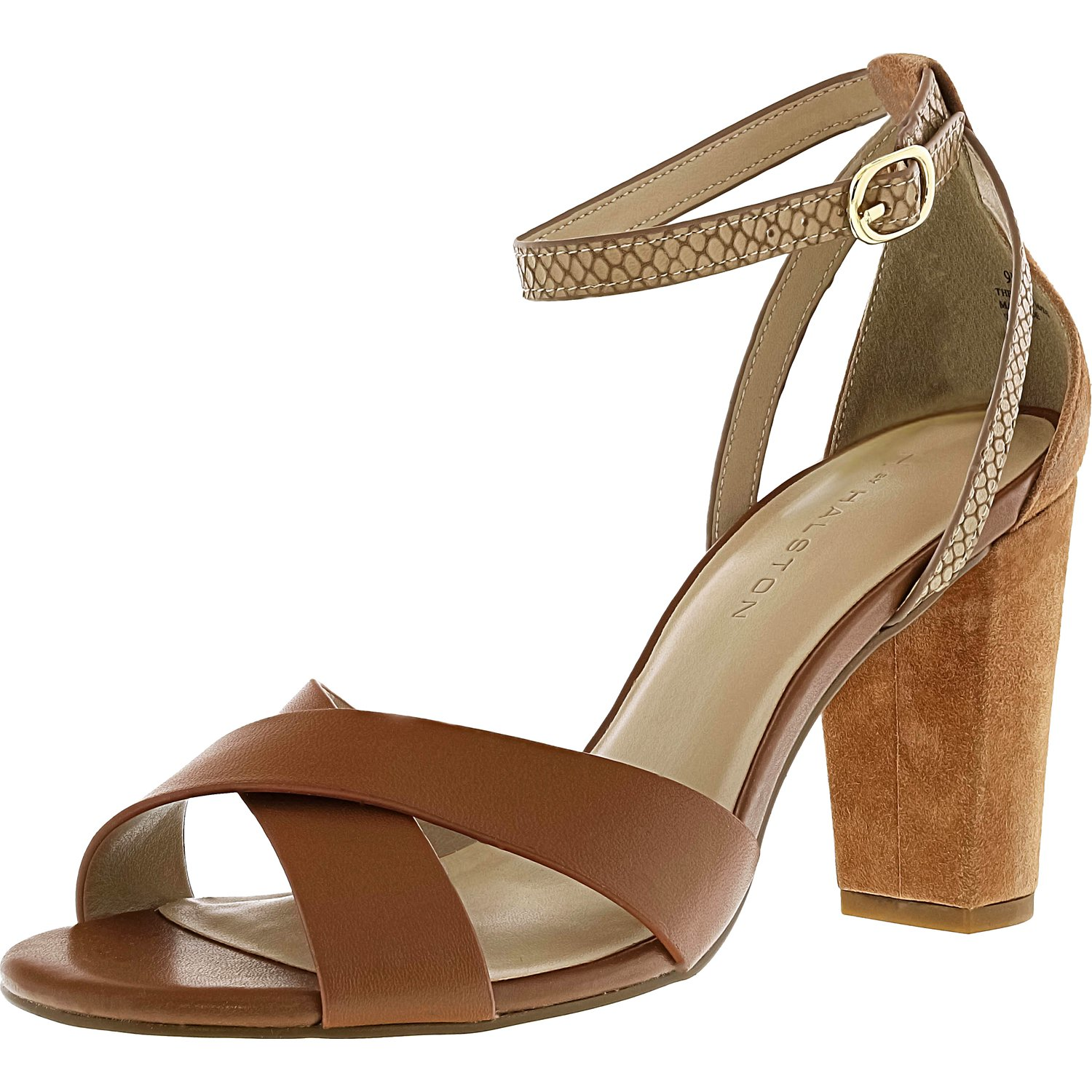 H By Halston Women's Kaely Cognac Ankle-High Leather Pump - 5M