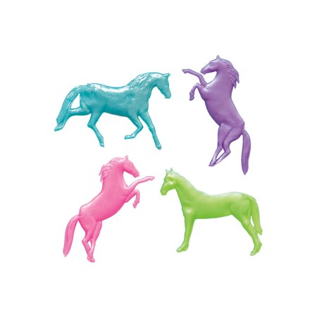Pearlized Stretchy Horse Party Favors, Assorted, 8ct](Horse Theme Party Supplies)