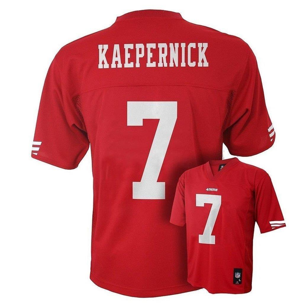 Colin Kaepernick #7 San Francisco 49ers NFL Boys Red Mid Tier Jersey - Youth S (8)