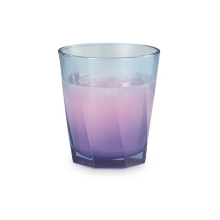 Mainstays Blue Tint 12.9 Ounce Double Old Fashioned Drinking Glasses, 8 Piece Set