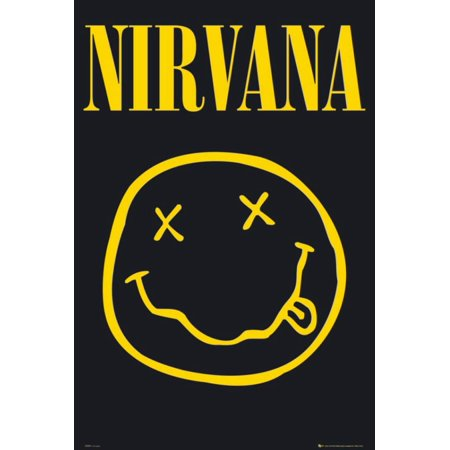 Nirvana - Smiley Poster - 24x36
