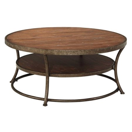 Fabulous Ashley Nartina Round Coffee Table In Light Brown Home Interior And Landscaping Ologienasavecom
