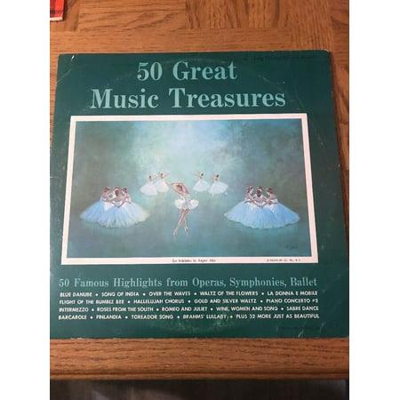 50 Great Music Treasures Album Greats Cd Album