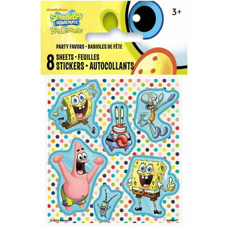 - SpongeBob SquarePants Sticker Sheets, 8ct