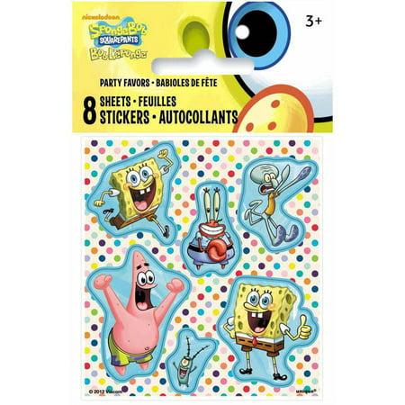 Spongebob Sticker Sheet (SpongeBob SquarePants Sticker Sheets, 8ct)