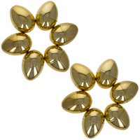 BestPysanky Set of 12 Very Shiny Golden Plastic Easter Eggs 2.25 Inches