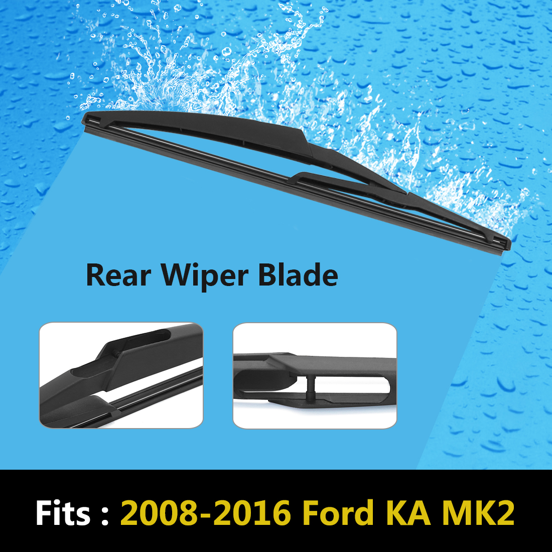Product Image X Autohaux Mm  Rear Windshield Wiper Blade For   Ford Ka Mk