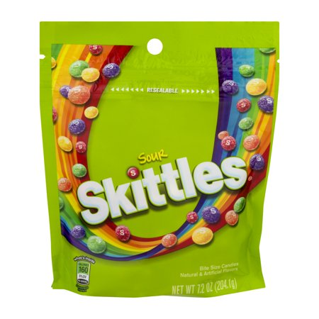 Skittles, Sour Chewy Candy, 7.2 Oz