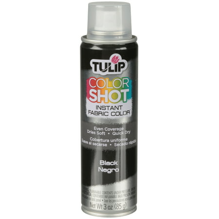 Tulip Black Fabric Spray Paint, 3 Oz.