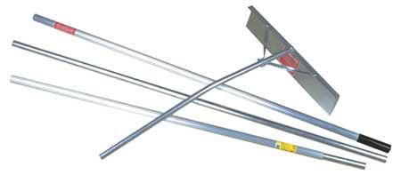 MIDWEST RAKE 96322GR Snow Roof Rake Scraper, 24 in., 16 ft. by Roof Rakes