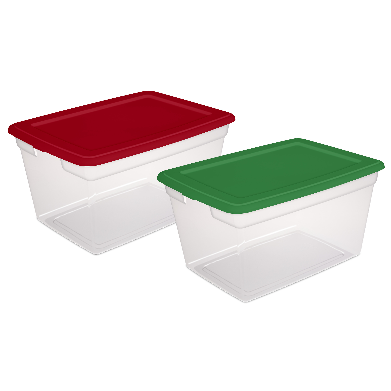 Sterilite, 58 Qt./55 L Storage Box, Christmas Assorted