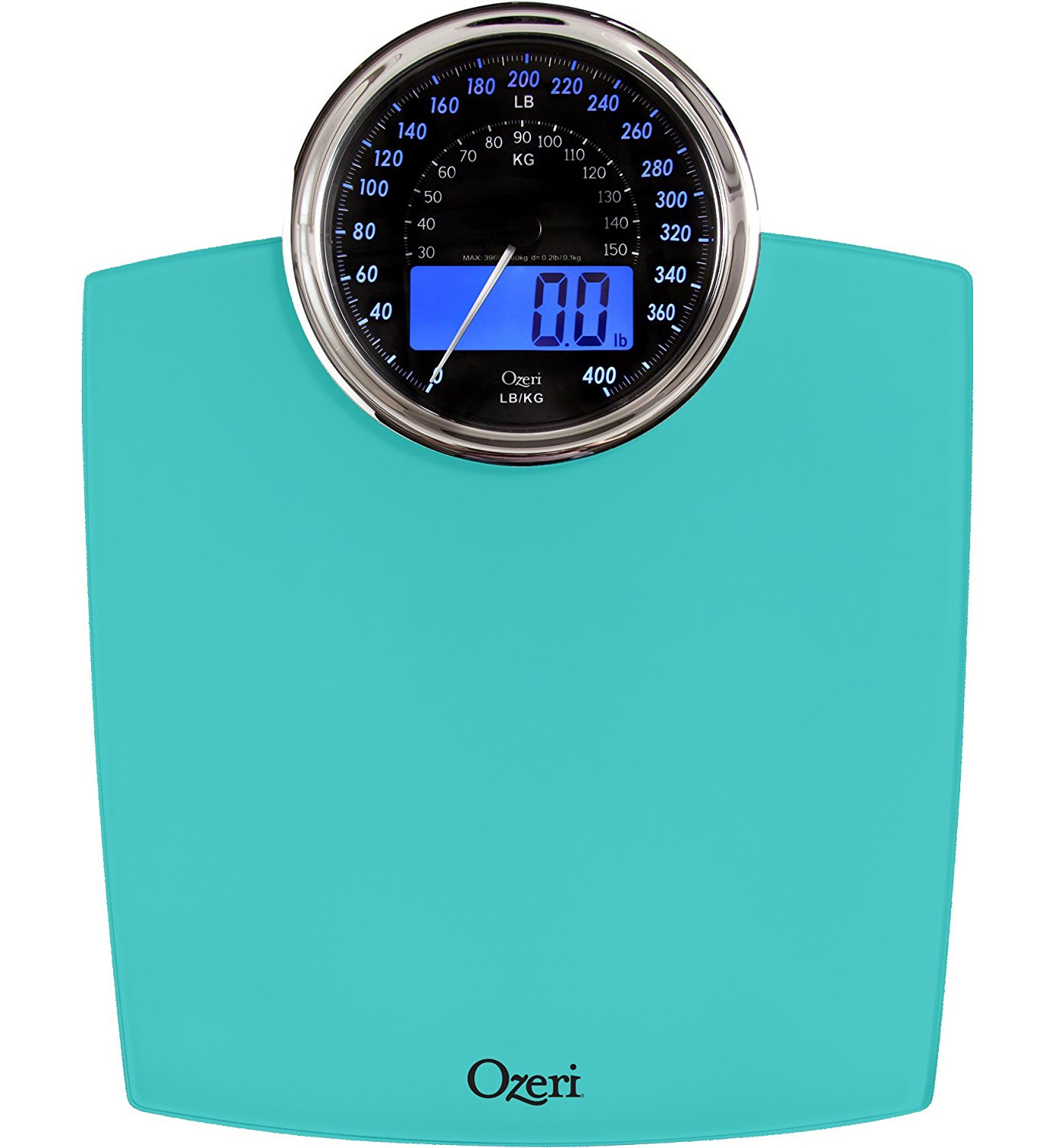 Ozeri Rev Digital Bathroom Scale with Electro-Mechanical Weight Dial