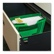 """C-Line Products Expanding File with Hanging Tabs, 0.75"""" Expansion, 7 Sections, Letter Size, Green"""