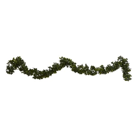 Boxwood Garland - Nearly Natural 6 ft. Boxwood Artificial Garland (Indoor/Outdoor), Set of 4
