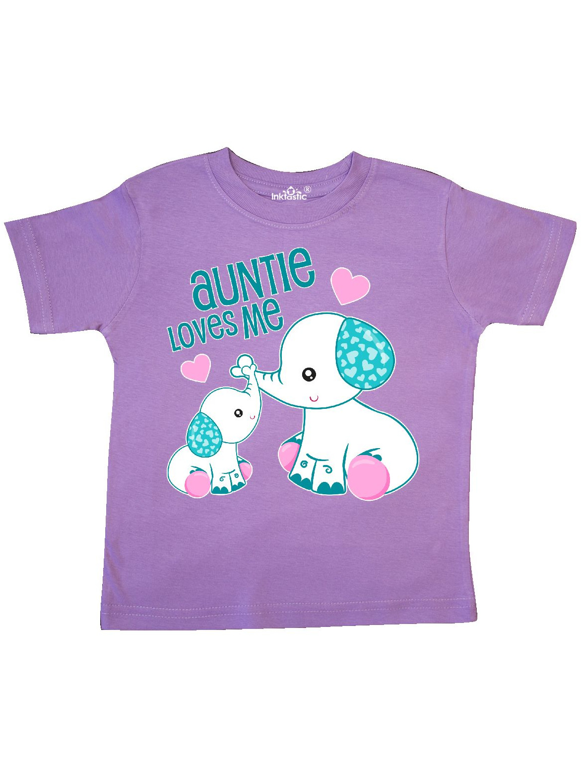 Auntie Loves Me-cute elephants Toddler T-Shirt
