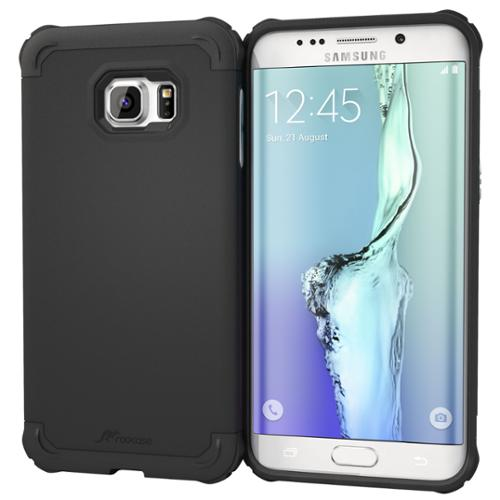 Galaxy S6 Edge Plus Case, roocase [Exec Tough] Galaxy S6 Edge+ Slim Fit Case Hybrid PC / TPU [Corner Protection] Armor Cover Case for Samsung Galaxy S6 Edge Plus (2015)