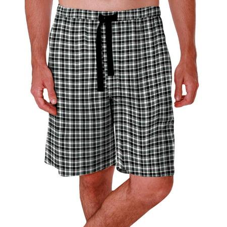 IZOD Mens Plaid Print Sleep Shorts