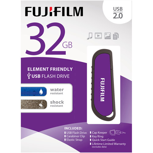 Fuji 32GB USB 2.0 WR Flash with Cap