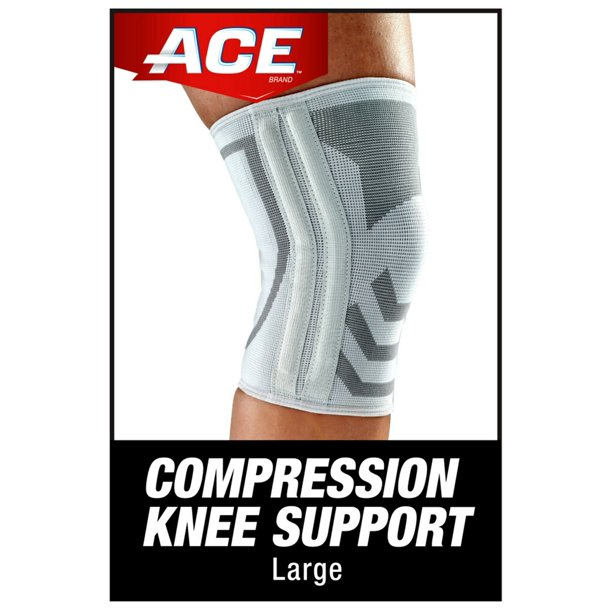 ACE Brand Knitted Knee Brace w/ Side Stabilizers, Large