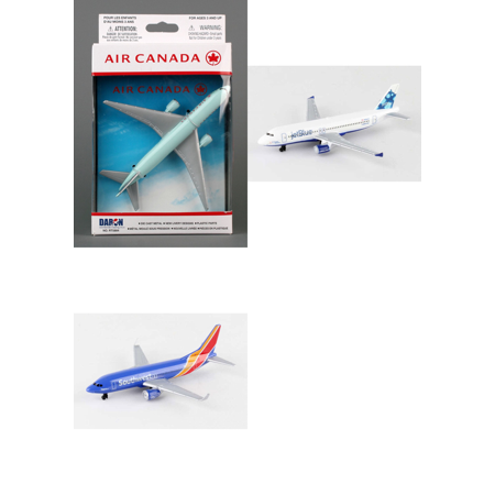 Air Canada  Jetblue  Southwest Airlines Diecast Airplane Package   Three 5 5  Diecast Model Planes