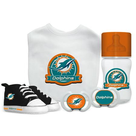 b6ec6741 NFL Miami Dolphins 5-Piece Baby Gift Set