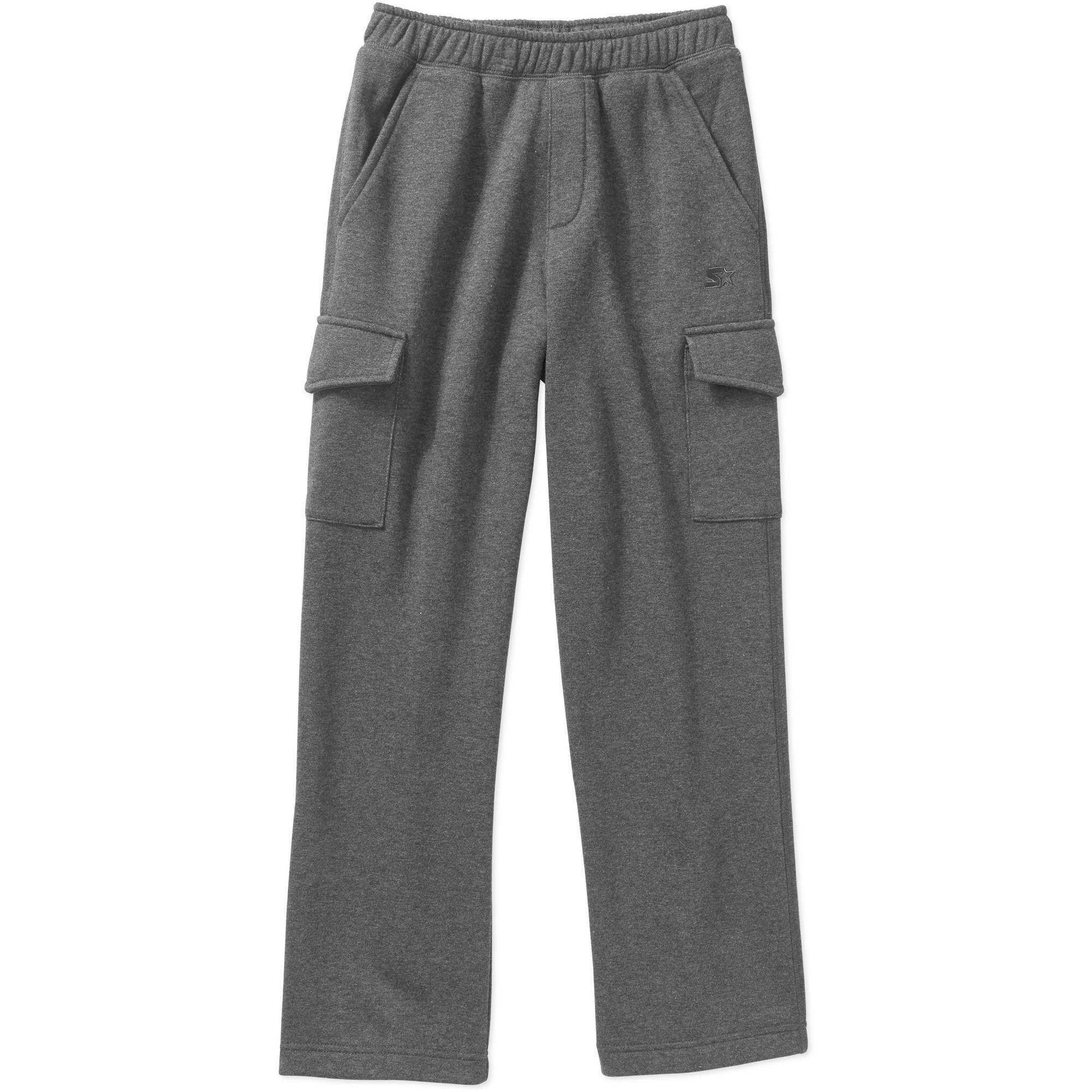 Starter Boys' Fleece Elastic Waistband Four Pocket Cargo Pants ...